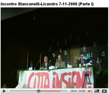 Video completo dell'incontro con Stancanelli e Licandro
