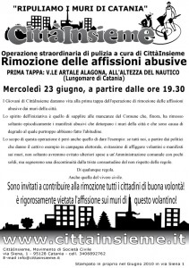 """Operazione """"Ripuliamo i muri di Catania!"""""""
