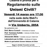 Volantino Incontro sulle Unioni Civili
