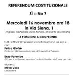 Dibattito a CittàInsieme sul Referendum del 4 dicembre